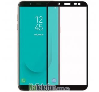 Защитное стекло для SAMSUNG J415 Galaxy J4 Plus (2018) (0.3 мм, 2.5D, с чёрным Silk Screen покрытием) FULL GLUE