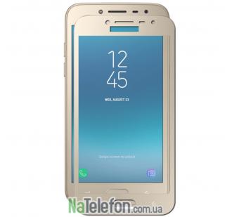 Защитное стекло для SAMSUNG J400 Galaxy J4 (2018) (0.3 мм, 2.5D, с золотистым Silk Screen покрытием) FULL GLUE