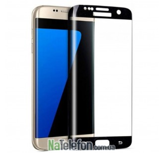 Защитное стекло для SAMSUNG G925 Galaxy S6 Edge (0.3 мм, 3D чёрное)