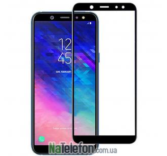 Защитное стекло для SAMSUNG A605 Galaxy A6 Plus (2018) (0.3 мм, 2.5D, с чёрным Silk Screen покрытием)