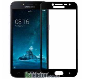 Защитное стекло для SAMSUNG J400 Galaxy J4 (2018) (0.3 мм, 2.5D, с чёрным Silk Screen покрытием) FULL GLUE