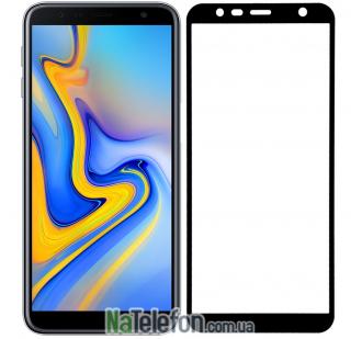 Защитное стекло для SAMSUNG J610 Galaxy J6 Plus (2018) (0.3 мм, 2.5D, с чёрным Silk Screen покрытием) FULL GLUE