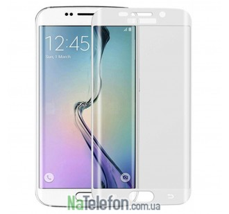 Защитное стекло Full Screen для Samsung G925 (S6 Edge) 3D White