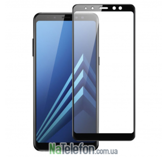 Защитное стекло для SAMSUNG A530 Galaxy A8 (2018) (0.3 мм, 2.5D, с чёрным Silk Screen покрытием) FULL GLUE
