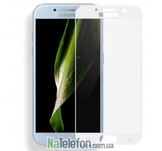 Защитное стекло для SAMSUNG A520 Galaxy A5 (2017) (0.3 мм, 2.5D, с белым Silk Screen покрытием)