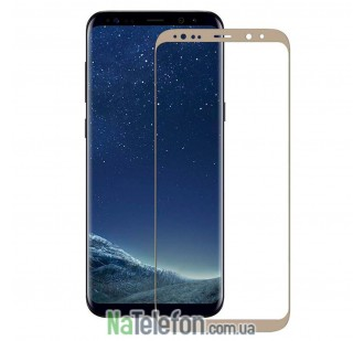Защитное стекло для SAMSUNG G955 Galaxy S8 Plus (0.3 мм, 3D New Design золотистое)