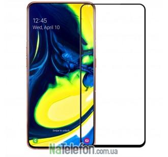 Защитное стекло для SAMSUNG A805 Galaxy A80 (2019) (0.3 мм, 2.5D, с чёрным Silk Screen покрытием) FULL GLUE