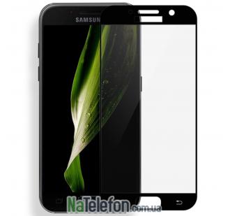Защитное стекло для SAMSUNG A720 Galaxy A7 (2017) (0.3 мм, 2.5D, с чёрным Silk Screen покрытием) FULL GLUE