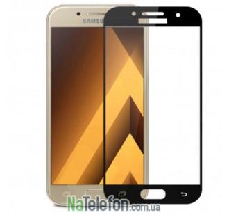 Защитное стекло для SAMSUNG A520 Galaxy A5 (2017) (0.3 мм, 2.5D, с чёрным Silk Screen покрытием)