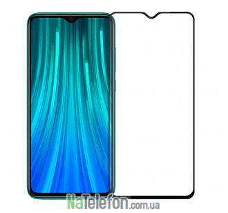 Защитное стекло для XIAOMI Redmi Note 8 Pro (0.3 мм, 2.5D, с чёрным Silk Screen покрытием) FULL GLUE