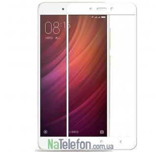 Защитное стекло для XIAOMI Redmi Note 4x (0.3 мм, 2.5D, с белым Silk Screen покрытием) FULL GLUE