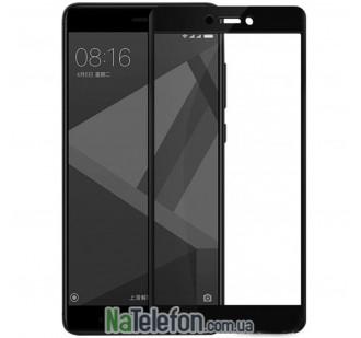 Защитное стекло для XIAOMI Redmi Note 4x (0.3 мм, 2.5D, с чёрным Silk Screen покрытием) FULL GLUE