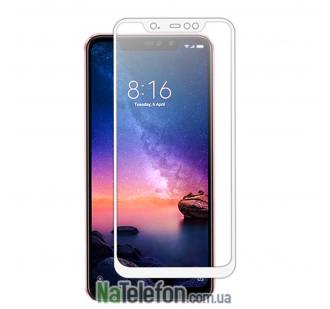 Защитное стекло для XIAOMI Redmi Note 6 (0.3 мм, 2.5D, с белым Silk Screen покрытием)