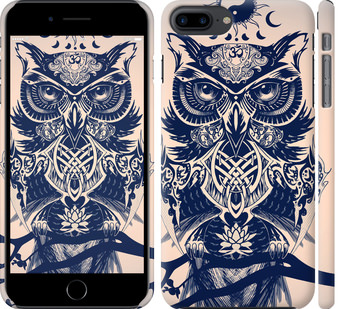 Чехол на iPhone 7 Plus Узорчатая сова