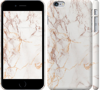 Чехол на iPhone 6 Plus Белый мрамор