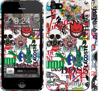 Чехол на iPhone 5 Many different logos