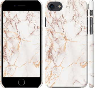 Чехол на iPhone 7 Белый мрамор