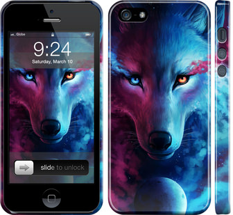 Чехол на iPhone SE Арт-волк