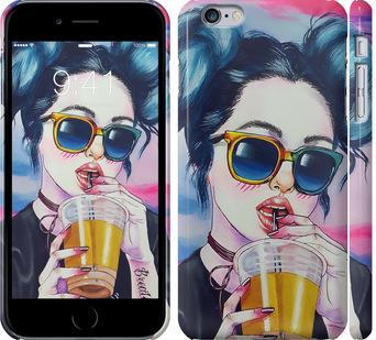 Чехол на iPhone 6 Plus Арт-девушка в очках