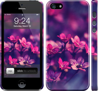 Чехол на iPhone SE Пурпурные цветы
