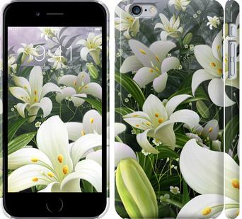Чехол на iPhone 6 Plus Белые лилии