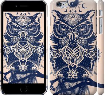 Чехол на iPhone 6 Plus Узорчатая сова