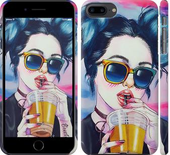 Чехол на iPhone 7 Plus Арт-девушка в очках