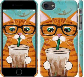 Чехол на iPhone 7 Зеленоглазый кот в очках