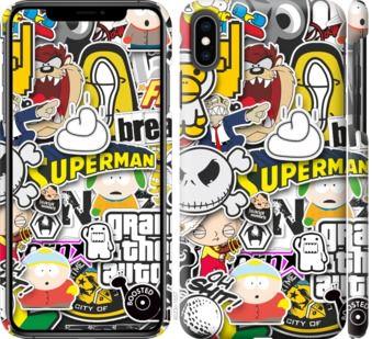 Чехол на iPhone XS Max Popular logos