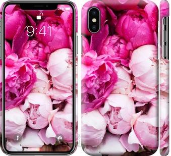 Чехол на iPhone XS Розовые пионы