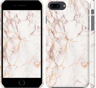 Чехол на iPhone 7 Plus Белый мрамор