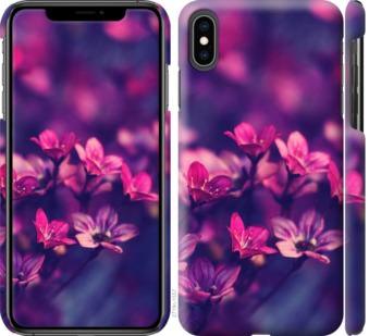 Чехол на iPhone XS Max Пурпурные цветы