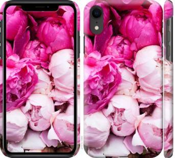 Чехол на iPhone XR Розовые пионы