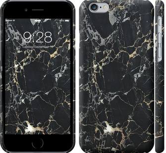 Чехол на iPhone 6 Черный мрамор