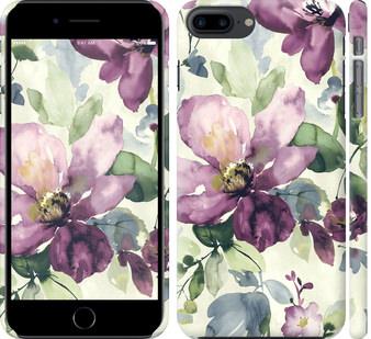 Чехол на iPhone 7 Plus Цветы акварелью