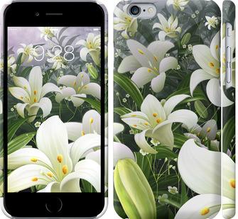 Чехол на iPhone 6s Белые лилии