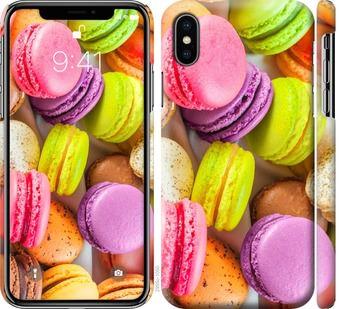 Чехол на iPhone X Макаруны