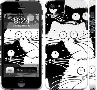 Чехол на iPhone SE Коты v2