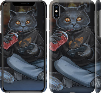Чехол на iPhone XS Max gamer cat