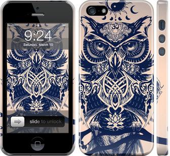 Чехол на iPhone 5 Узорчатая сова