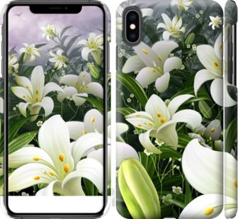 Чехол на iPhone XS Max Белые лилии