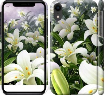 Чехол на iPhone XR Белые лилии