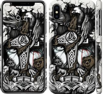 Чехол на iPhone X Тату Викинг