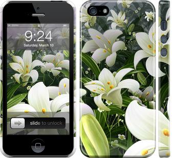 Чехол на iPhone SE Белые лилии