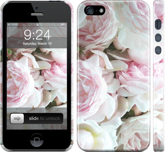 Чехол на iPhone SE Пионы v2
