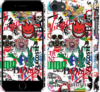Чехол на iPhone 8 Many different logos
