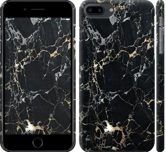 Чехол на iPhone 7 Plus Черный мрамор
