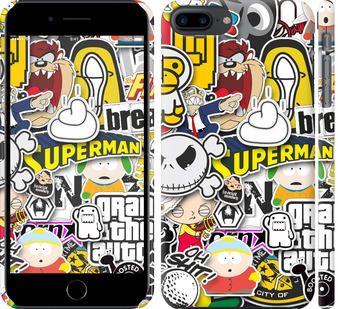 Чехол на iPhone 8 Plus Popular logos