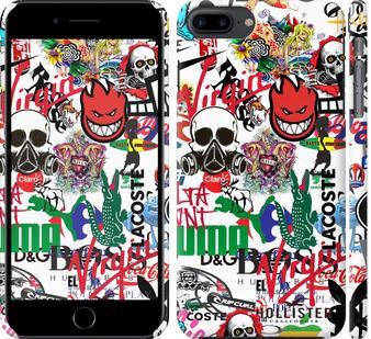 Чехол на iPhone 7 Plus Many different logos