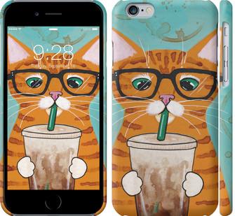 Чехол на iPhone 6 Зеленоглазый кот в очках